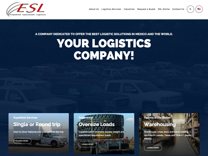 Expedited Specialized Logistics Website