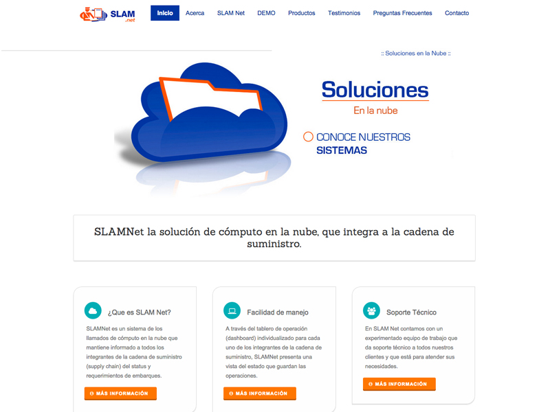 SlamNET - Website design
